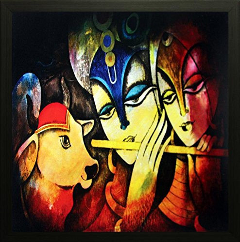 SAF Radha krishna Religious painting for Home & Office decoration ( 30 X 2 X 30 cms)