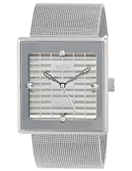 EOS New York Women's 303SSIL Petra Stainless Steel Mesh Silver Watch
