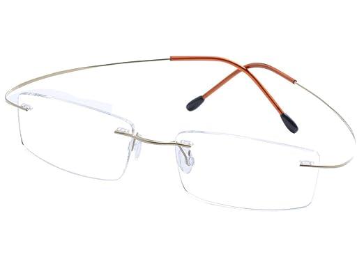DEDING Herren Titan Randlose polarisierte Sonnenbrillen (violette Linsen) xCx4VGM
