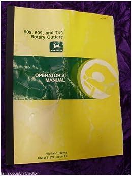 John Deere 509/609/709 Rotary Cutter OEM OEM Owners Manual