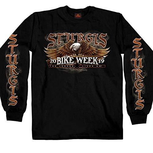 Hot Leathers Mens T-Shirt Black Medium SPM2787