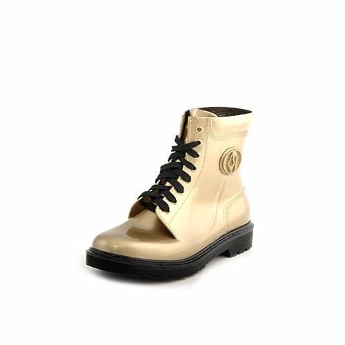 separation shoes 9654c 57e19 STIVALETTI GOMMA VERNICE DONNA GIORGIO ARMANI JEANS ORO ...