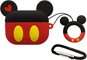 Airpods Pro Case (2019), AKXOMY Cute Cartoon Mickey Mouse Airpods Pro Case Cover with Ring Keychain for Apple AirPods Pro Cover for Girls Kids Women (Mickey Mouse)