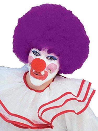 Forum Novelties Unisex Afro/Clown Wig,  Purple, One Size -