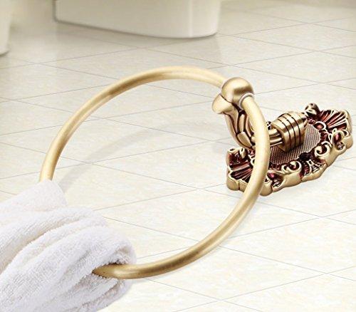 Edge To European all-copper luxury bathroom towel ring towel hanging bathroom towel rack round by Edge To (Image #2)