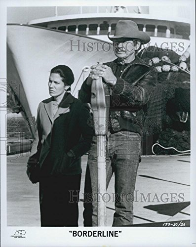 """1980 Television Photo Actors Karmin Murcelo And Charles Bronson In Film """"Borderline"""""""