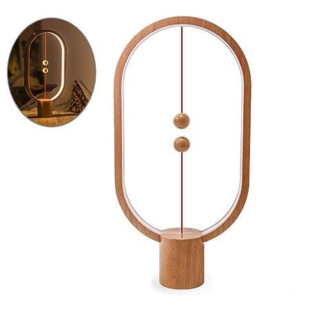 Lámpara Heng Balance, Lámpara de mesa de aire magnética LED Decoración de luz nocturna de LED para dormitorio, Mesita de noche, Hogar, Oficina, ...