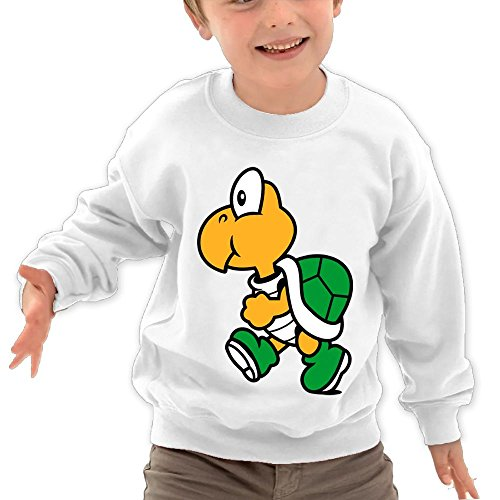Price comparison product image Puppylol Cute Turtle Kids Classic Crew-neck Pullover Hoodie White 4 Toddler