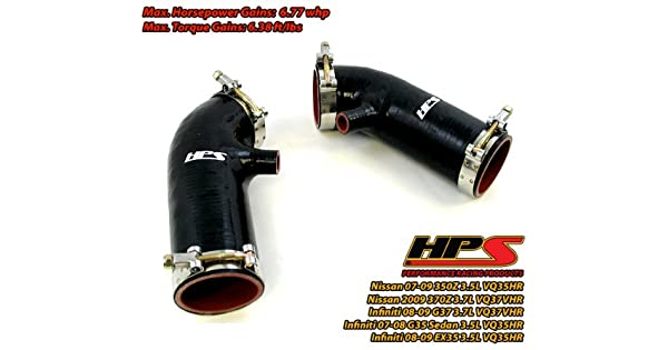 HPS Silicone Air Intake Replacement Hose Kit for Infiniti 08-09 EX35 RED