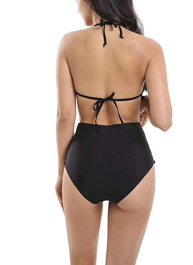 0be7168ea3f CAIYING Women High Waist Striped Bikini Set Pom Pom Trim Swimwear Bathing  Suit  Amazon.ca  Clothing   Accessories