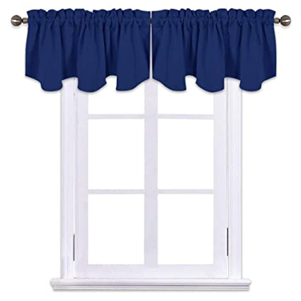 Attrayant NICETOWN Blackout Valance Tier For Bedroom   52 Inch By 18 Inch Scalloped  Rod