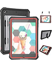 "iPad Mini 5 Case - Waterproof iPad Mini 5 Full Body Bumper Case with Built in Screen Protector Drop Proof Anti Scratch Anti Shock Red Case Cover for iPad Mini 5th Generation 7.9"" 2019"
