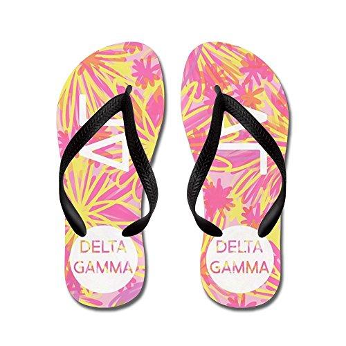 CafePress Delta Gamma Pink - Flip Flops, Funny Thong Sandals, Beach Sandals Black