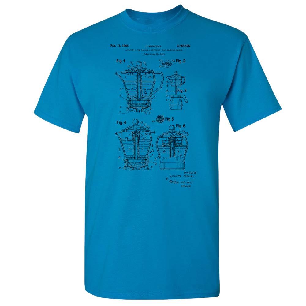 e559d3ac Amazon.com: Coffee Moka Pot T-Shirt, Barista Shirt, Coffee Shop,  Restaurant, Cafe Owner, Espresso Lover, Coffee Brewer, Kitchen Gift:  Clothing
