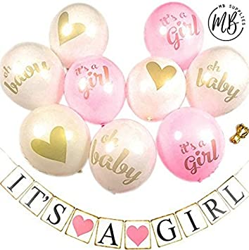 Amazon Baby Shower Decorations Decoration Set 9 Piece Pink