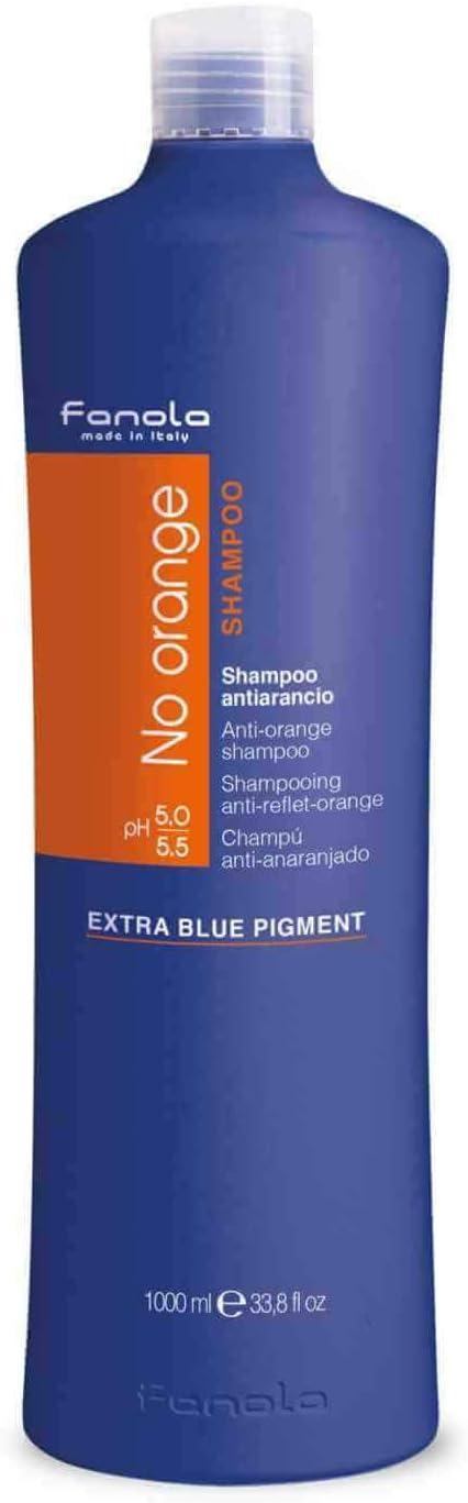 Fanola Champú NO ORANGE Antinaranja 1000mL 1L - Especial cabellos teñidos oscuros - Neutraliza rojos cobrizos indeseados