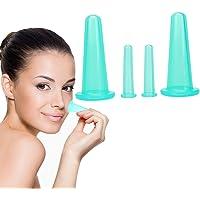 Kapmore 4PCS Cupping Cup Set Silicone Eye & Face Kit de taza de masaje de vacío Taza de terapia