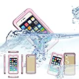 iPhone 6 Waterproof Case,KEEDA® 6 Meter Waterproof Dustproof Snowproof TPU Silicone Case Cover for iPhone 6 4.7-Pink