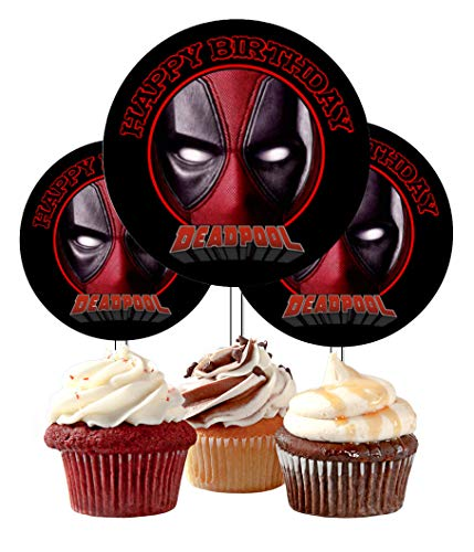 12 Happy Birthday Deadpool Inspired Party Picks, Cupcake
