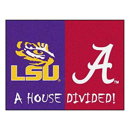 Lsu Rugs - Fanmats NCAA House Divided: LSU/Alabama Rug, 34