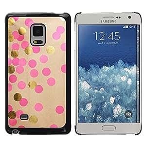 Caucho caso de Shell duro de la cubierta de accesorios de protección BY RAYDREAMMM - Samsung Galaxy Mega 5.8 9150 9152 - Dot Paper Art Shiny Pink Dots