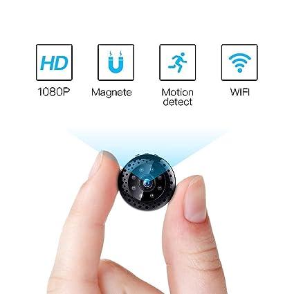 Fredi HD1080P WiFi Cámara Espía Cámara Oculta Mini cámara espía inalámbrico Hidden Spy CAM con visión