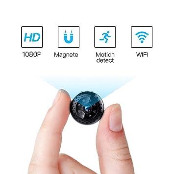 Fredi HD1080P WiFi Cámara Espía Cámara Oculta Mini cámara espía inalámbrico Hidden Spy CAM con visión Nocturna/detección de Movimiento IP Cámara de ...