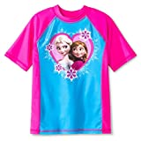 Disney Frozen Girls%27 Rashguard Swim To