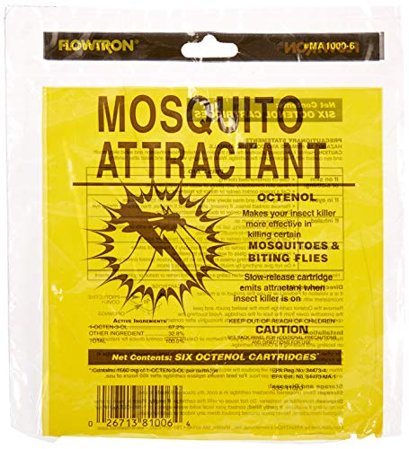 Insect Lure - Flowtron MA-1000-6 Octenol Mosquito Attractant Cartridges, 6-Pack