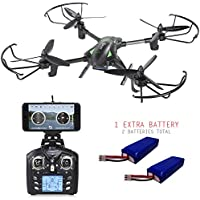 Contixo F6 RC Quadcopter Racing Drone 2.4Ghz 6-Axis Gyro with 720P Rotating HD Camera, FPV Live Feed, Headless, 2 Batteries Included, 360 Flips, Mobile App, Hover, VR Ready- Best Gift Idea