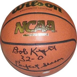 Bobby Knight signed NCAA Final Four Indoor/Outdoor Basketball Perfect Season 32-0 (1976)- Hologram (Indiana Hoosiers) - Steiner Sports Certified Athlon