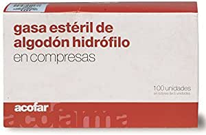 ACOFAR - ACOFAR GASA ESTERIL 60X40 6UN: Amazon.es: Salud y cuidado personal