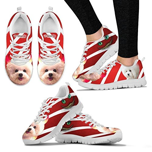 Petz Plus Bichon Frise Halloween Dog Print Custom Running Tennis Shoes Sneakers - Women -