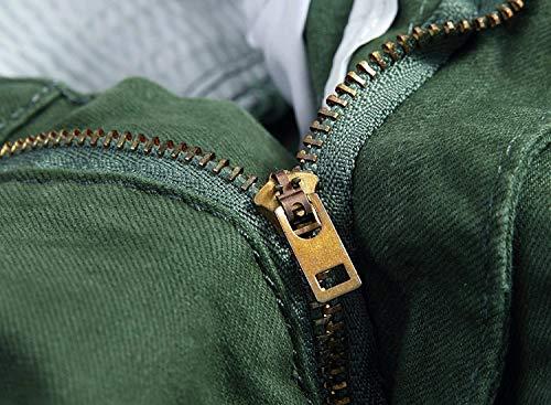 Cargo Armygreen T Casuale Ssige Vintage Vita Sottile Di Uomini Dei Etero Bolawoo Marca Pantaloni Alte Mode Jeans Della Metà TwUqxOI