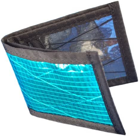 Flowfold Vanguard Recycled Sailcloth Slim Front Pocket Bifold Wallet - Light Weight - Minimalist - Made in the USA