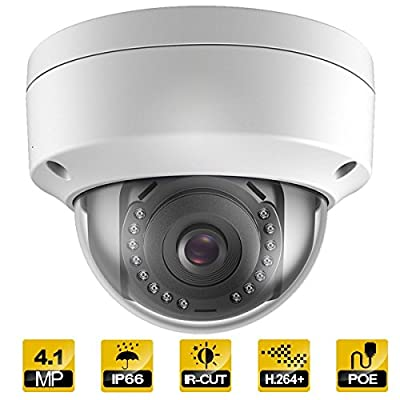 Hykamic 4MP IP Camera PoE Outdoor Vandal Security Dome Camera 2K HD Onvif (2.8mm Lens)