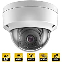 Hykamic Outdoor 4 Megapixels PoE Dome IP Security Camera-  IP66 Weatherproof, 2K HD (2.8mm Lens)