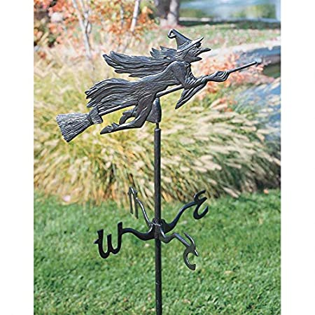 Design Toscano Windblown Wicked Witch Metal Weathervane: Roof Mount