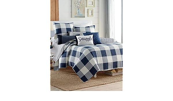 Amazon Com Home Collection Navy Blue Gray White Soft Cozy Farmhouse