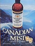 Canadian Mist Whiskey, vintage print ad. full page color illustration (Garibaldi Lake) original vintage Magazine Art