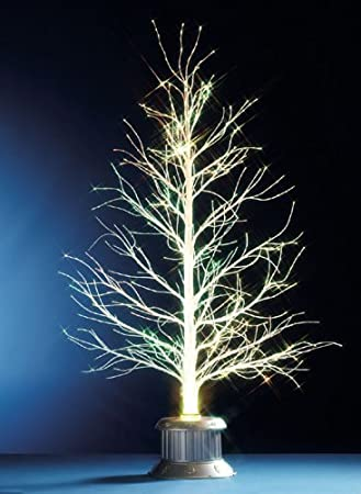Festive Productions White Bare Stem Fibre Optic Tree, 1.5 m ...