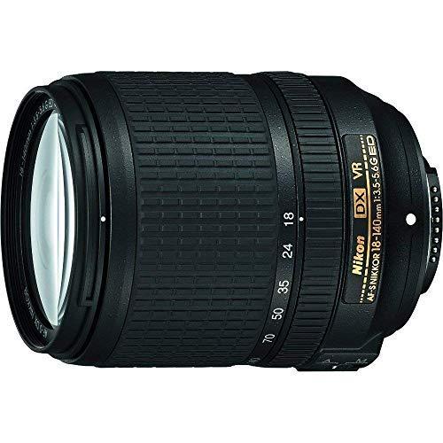 Nikon AF-S DX NIKKOR 18-140mm f/3.5-5.6G ED Vibration Reduction Zoom Lens with Auto Focus for Nikon DSLR Cameras (Renewed)