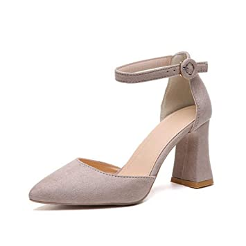 296ceed0028e2 Amazon.com: Kyle Walsh Pa Women Pumps Pointed Toe Suede Summer ...