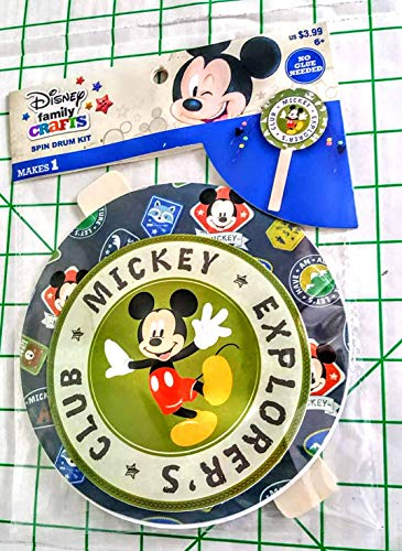 (DISNEY FAMILY CRAFTS Mickey Mouse Explorers Club Spin Drum KIT MSRP 3.99 )