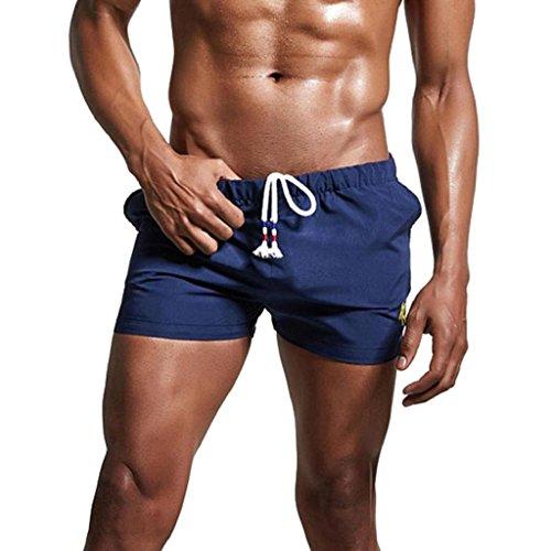iZHH Mens Breathable Swim Trunks Pants Shorts Slim Wear Bikini Swimsuit (Old Navy Loose Fit Jeans)