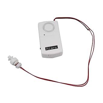 Alarma de fuga, flotador Seguridad de la bola Detector de agua Seguridad en el hogar