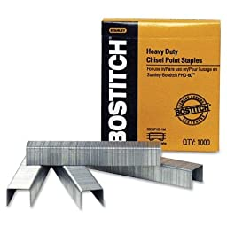 Wholesale CASE of 25 - Bostitch Heavy-duty PHD-60 Staples-Staples, Heavy-Duty, For PHD-60, 1000 Per Box