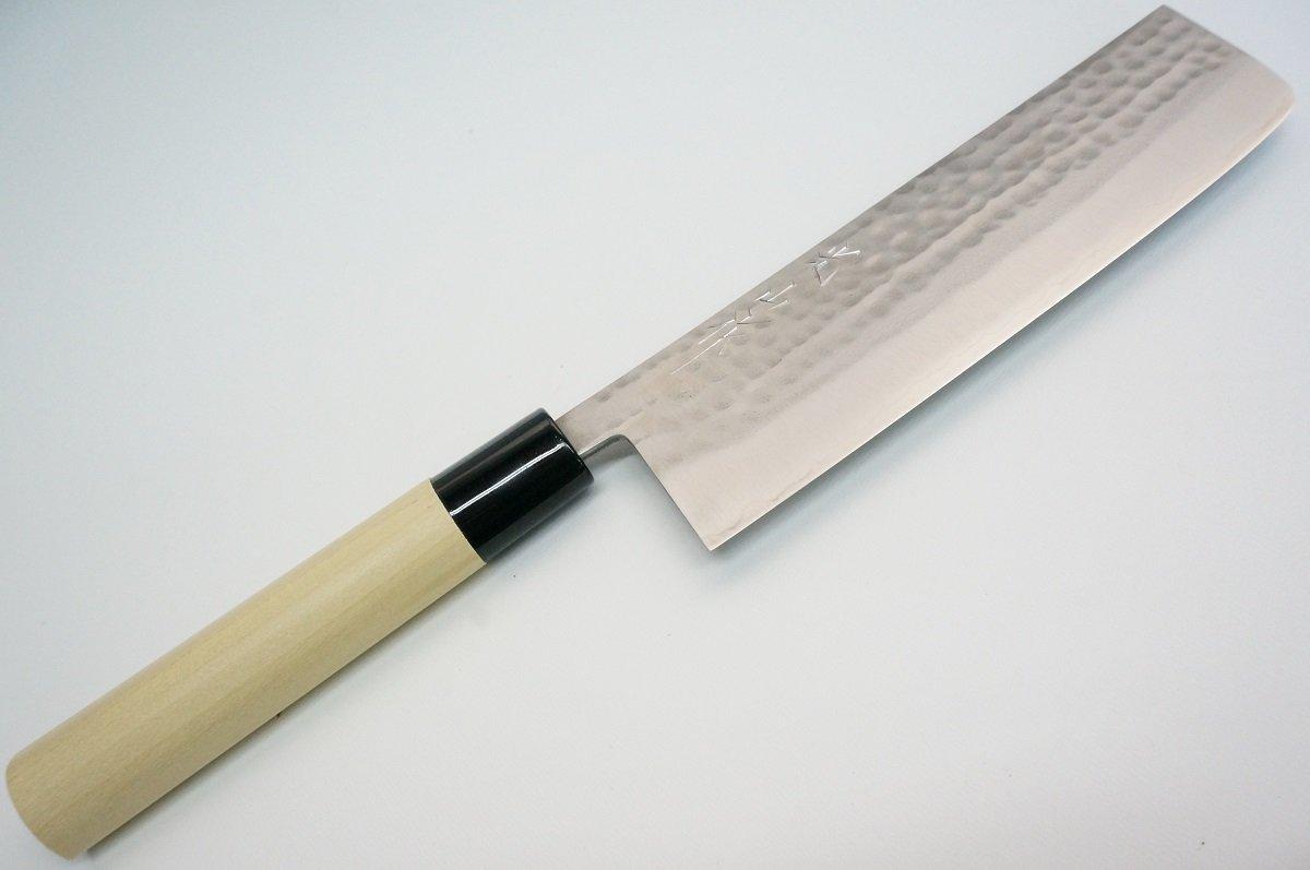 Brand New Honen Kozansaku Hammered Pattern Nakiri Usuba Knife Made In Japan 6685M