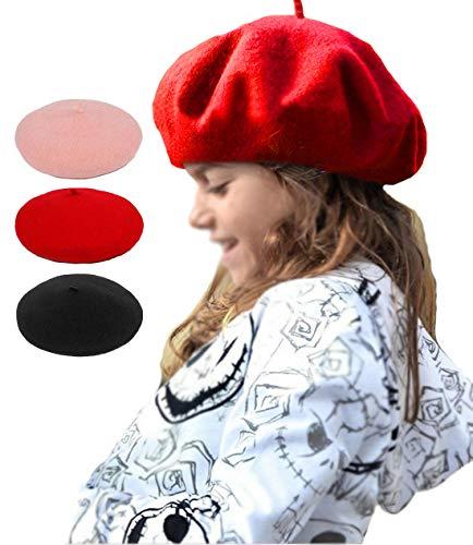 iToolai Kids Woollen Beret Warm Cap Christmas Costume
