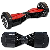 MightySkins Protective Vinyl Skin Decal for Self Balancing Board Scooter Hover 2 wheel mini board unicycle bluetooth wrap cover sticker Black Butterfly